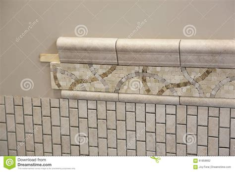 new bathroom tile installation stock photo image 61958662