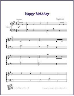 Now that you can identify the notes on the piano keyboard, let's get to the heart of the matter and learn happy birthday. Happy Birthday - Free Easy Piano Sheet Music | Sheet music, Easy piano sheet music, Piano sheet ...
