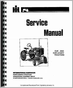 Farmall Cub Tractor Service Manual