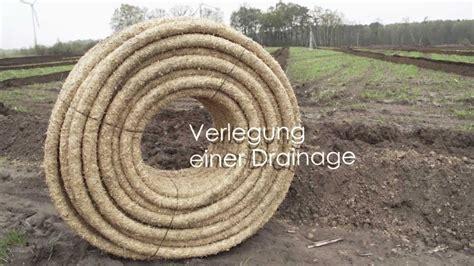 verlegung einer drainagedraenage youtube