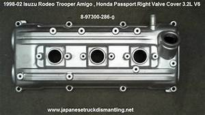 Isuzu Rodeo Valve Cover 3 2l Head Valve Cover Right Part   8973002860