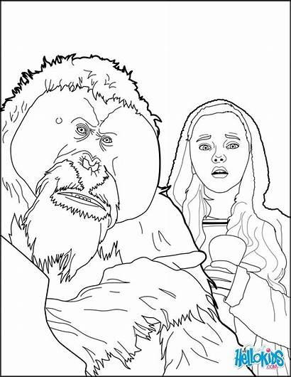 Coloring Apes Pages Planet War Hellokids Planets