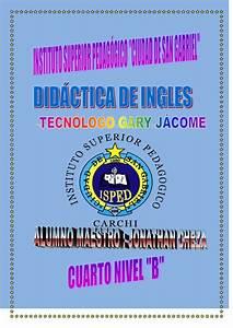 Ingles cuarto nivel jonathan cheza