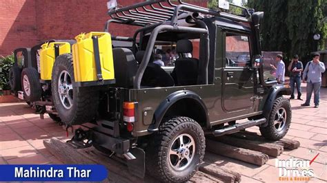 mahindra thar crde 4x4 ac modified mahindra thar with ac launched in india walkaround video