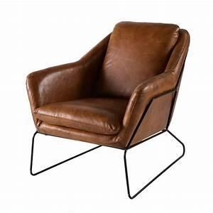 Maison Du Monde Sessel : fauteuil en cuir marron maisons du monde ~ Watch28wear.com Haus und Dekorationen