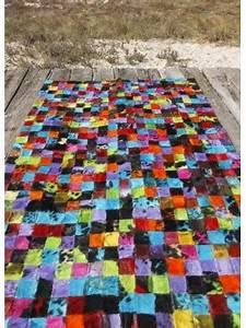 Tapis Cuir Patchwork : matador tapis patchwork en peaux cuir marron beige ~ Teatrodelosmanantiales.com Idées de Décoration