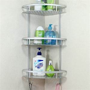Three, Layer, Wall, Mounted, Bathroom, Rack, Towel, Washing, Shower, Basket, Bar, Shelf, Bathroom