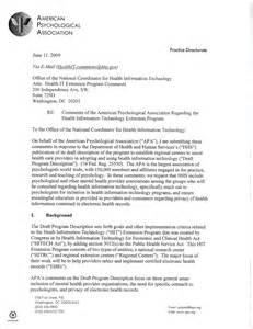 APA Business Letter Format