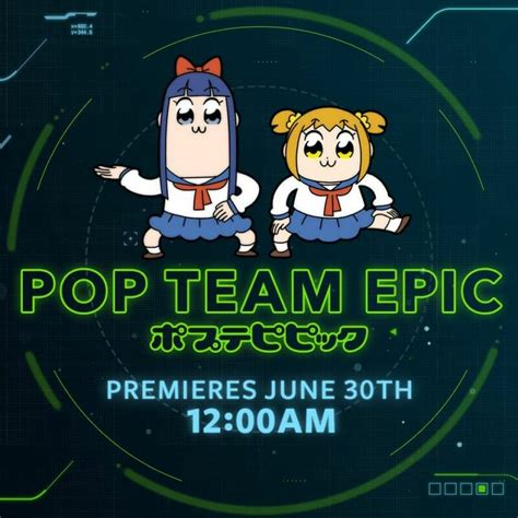 anime epic 2018 pop team epic to air on toonami starting 6 30 2018 anime