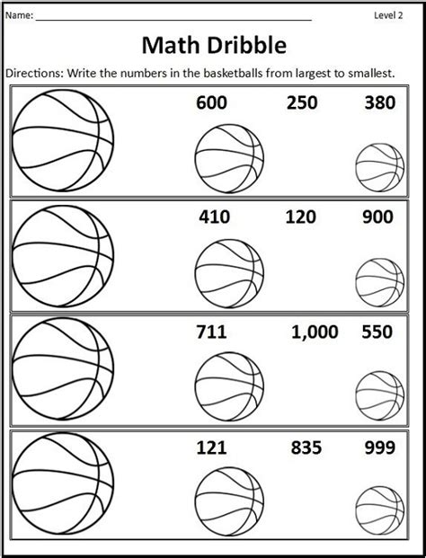 basketball themed math worksheets activity shelter