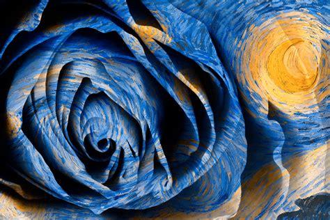 wallpaper kontras lukisan ilustrasi malam abstrak