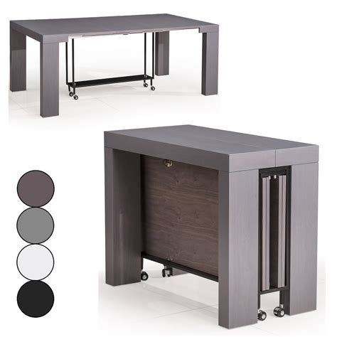 table extensible decome galerie avec console transformable en table a manger photo iconart co