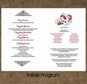 free quinceanera invitations templates quinceanera program an idea to put on the table with the