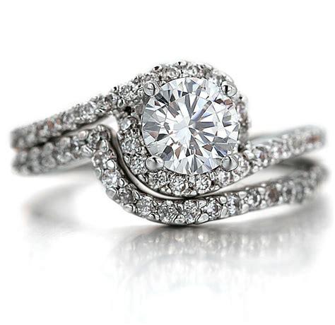18k white gold gf r295 womens infinity engagement wedding band rings ebay