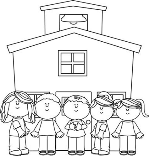 going to school clipart black and white black and white school at school clip black and
