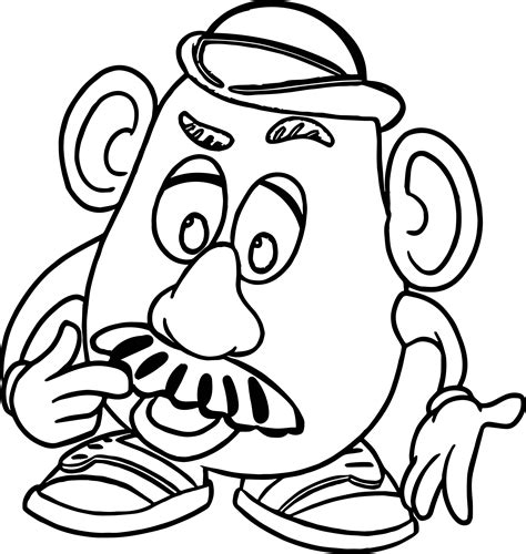 Luxurius Mr Potato Head Coloring Pages 13 For With Mr