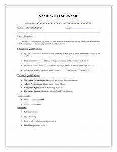 Print very basic resume template samples of simple resumes for Very simple resume template
