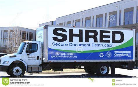 mobile document shredding truck editorial image image
