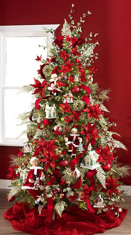 poinsettia christmas tree christmas decor pinterest