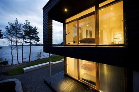 scandinavian modern dream house   sea