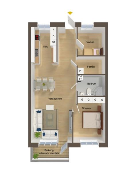 Designing A Floor Plan by 40 More 2 Bedroom Home Floor Plans