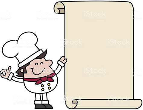 Cartoon Chef Holding Blank Recipe Stock Vector Art & More