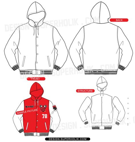 Sports Jacket Template by Varsity Jacket Template Fstjk004 Vsthoodie Templates Station