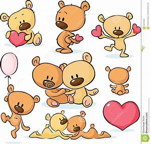 Cute Valentines Teddy Bear - Vector Stock Vector - Image ...
