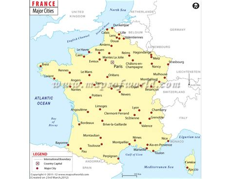 buy map  france  cities