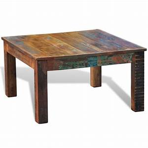 vintage style square reclaimed wood coffee table buy With vintage reclaimed wood coffee table