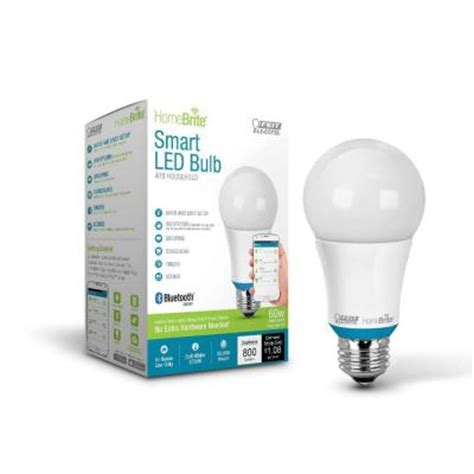 homebrite bluetooth smart led light bulbs the home depot