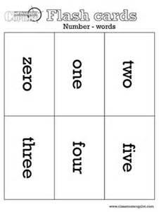 number word flash cards math homeschool