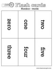 Number Word Flash Cards