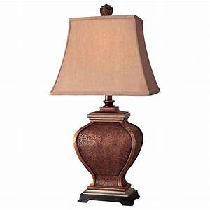 Ambience Antique Bronze And Silver Table Lamp 10824 0