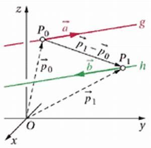 Schnittpunkt Zweier Geraden Berechnen : lagebeziehungen vektorrechnung und analytische geometrie des raumes ~ Themetempest.com Abrechnung
