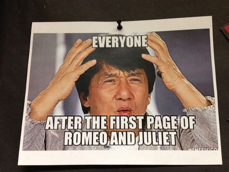 Romeo And Juliet Memes - mrs orman s classroom five ways to use memes to connect with students