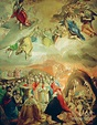 Adoration Of The Name Of Jesus Painting by El Greco