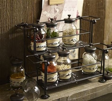 Pottery Barn Spice Rack by Counter Spice Rack Jars I Antique Type Decorations