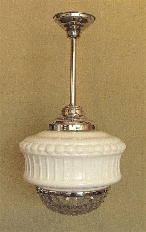 vintage schoolhouse lighting fixture   vintage
