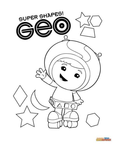 Coloring Umizoomi by N Coloring Page Team Umizoomi Geo Birthday In