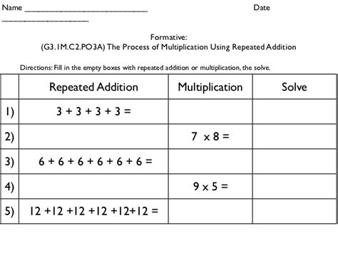 repeated addition word problems 2nd grade multiplication