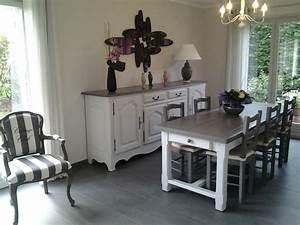 Repeindre ses meubles de salle a diner table de lit for Salle À manger contemporaineavec lit meuble
