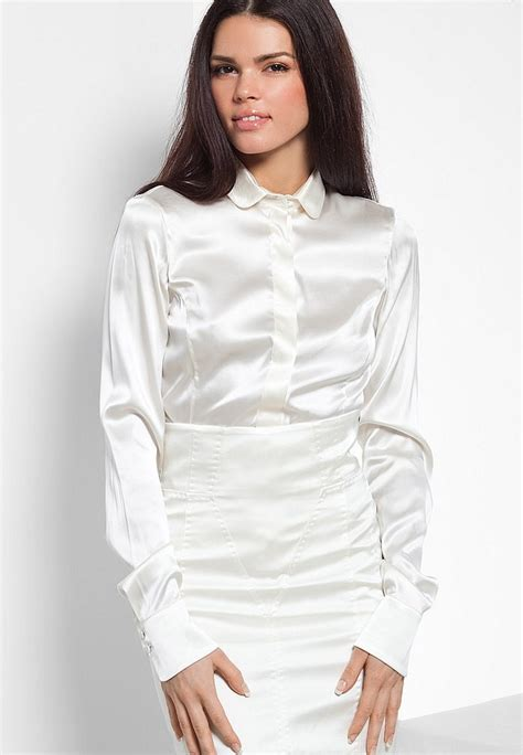 womens white blouses satin blouses white satin blouses for
