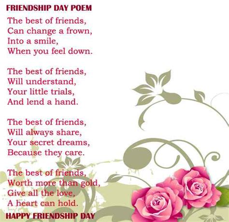 Friendship Day 2017 Poems Heart Touching In English