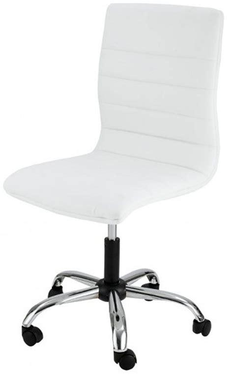 chaise bureau blanc chaises de bureau sans