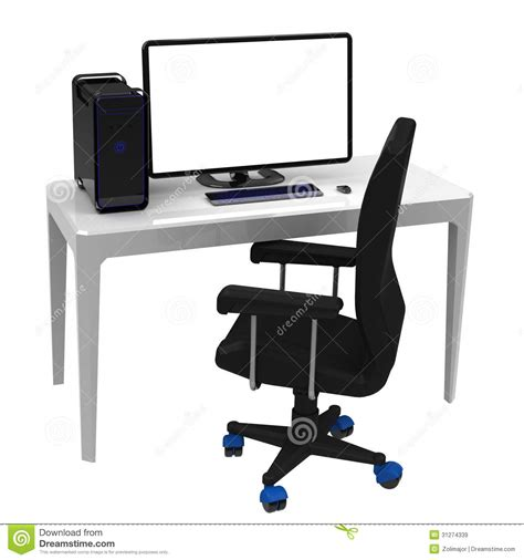 le poste de travail bureau images libres de droits image 31274339