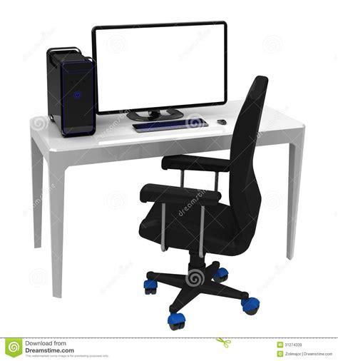 poste de travail bureau le poste de travail bureau images libres de droits