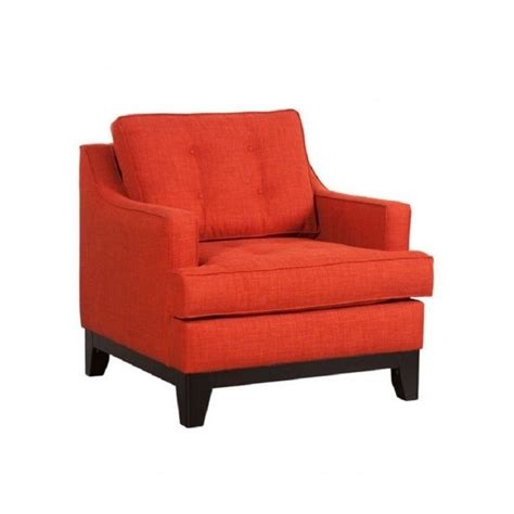 zuo chicago accent chair in burnt orange 100173