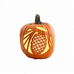 Pinecone, Pumpkin, Stencil
