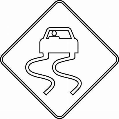 Coloring Signs Road Pages Sign Clipart